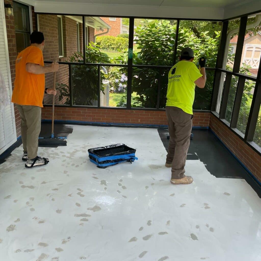 epoxy local flooring in Huntersville NC